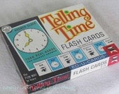 Telling Time Flash Cards New in Box 1963 -    N419