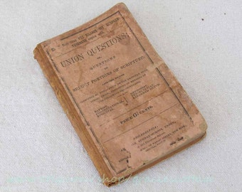 Antiquarian Book 1835 - Union Questions - Sunday School   Tandy Concord NH N654