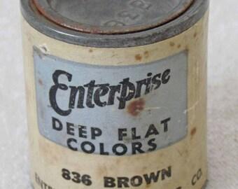 Vintage Miniature Paint Can - Enterprise Paint Sample  N728