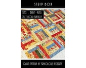 Quilt Pattern PDF Strip Box All Sizes -- Jelly Roll Friendly