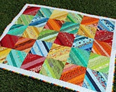 Lap Quilt Rainbow Strings Baby Toddler