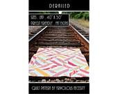Quilt Pattern PDF Derailed -- Fat Eighth Friendly