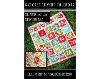 Quilt Pattern PDF Advent Calendar with Pockets-- Charm Friendly