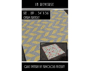 Quilt Pattern PDF In Reverse -- Charm Friendly