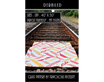 Quilt Pattern PDF Derailed -- Fat Eighth Friendly