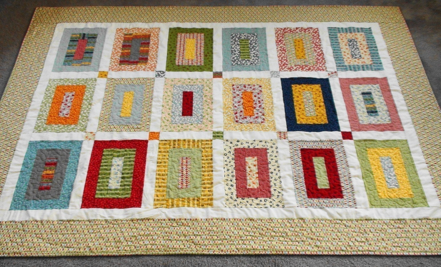 Quilt Pattern With Different Size Blocks : Building Blocks Quilt Pattern All Sizes PDF
