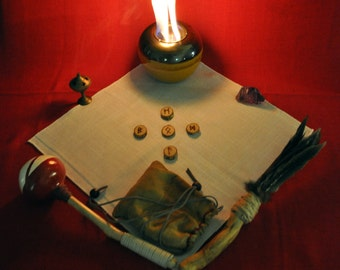 Five rune casting covering a week, month, or year, on a specific area/question