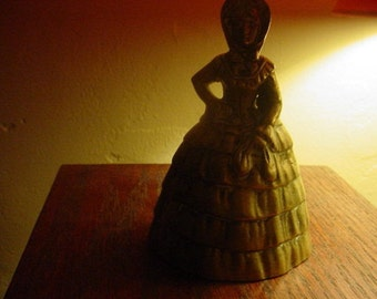 Victorian southern Bell Brass Bell Vintage Heavy and Sweet Ring  Hurricane seas.on  sale. Item#3204
