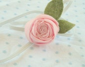 RESERVED for AMY - Allora Baby - sweet pea rosette - soft pink