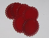 Colorful Charm Settings - 25x18 - Red (qty 100) wholesale