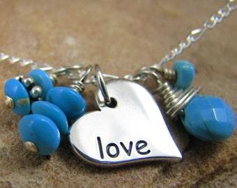 Survivor Jewelry, Silver Heart Charm Necklace