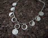 Sterling Silver Lunar Phases (Luna) Moon Necklace