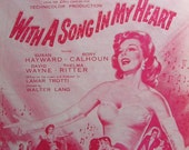 RARE vintage SHEET MUSIC - I'LL WALK ALONE  - Collectible Art -  from 20th Century-Fox 1952 Production 'With A Song In MY HEART' starring SUSAN HAYWARD