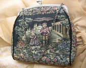 Vintage 40s - 50s La Marquise Italian tapestry purse EVENING BAG