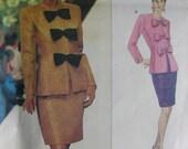 Vintage 80s DRESS PATTERN - GIVENCHY - VOGUE 1694 - 2 PC DRESS SUIT - multi-size 6-8-10