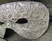 Venetian costume silver mask for adult men, Shandr