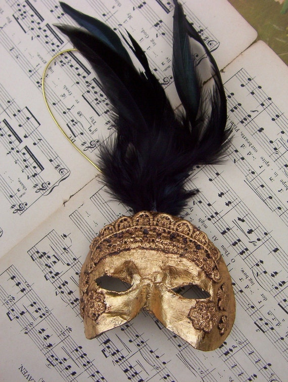 Venetian, gold mask ornament