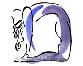 Yoga art print - Camel Pose