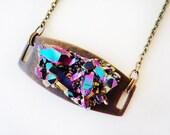 Rainbow crystal necklace, MARIAH