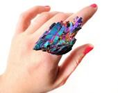 Rainbow quartz ring, SCILIA