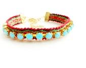 Rhinestone friendship bracelet, FAYE