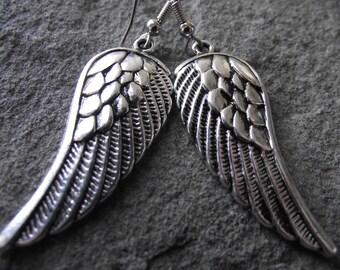 Large Guardian Angel Wing Earrings