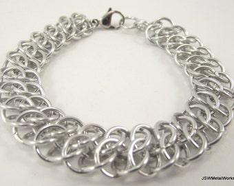 GSG Bracelet, Aluminum Chainmaille Bracelet, Chainmail Bracelet