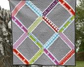 a tufted tweets modern lattice quilt