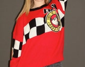 RESERVED for jasminegranado  Vintage Car Race Mickey & Co Oversized Sweater