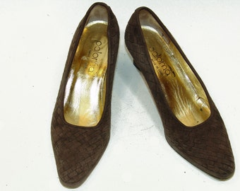 Vintage Italian PALOMA woven Heels size 6