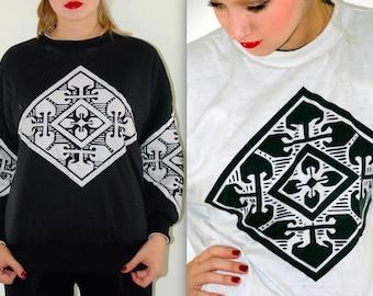 Vintage 1980s Reversible Sweatshirt