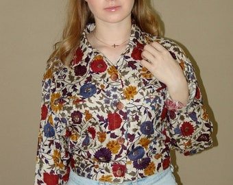 vintage 1970s  cropped summer jacket
