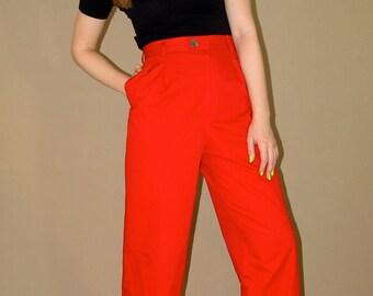 Vintage YSL Yves Saint Laurent Cotton Trousers