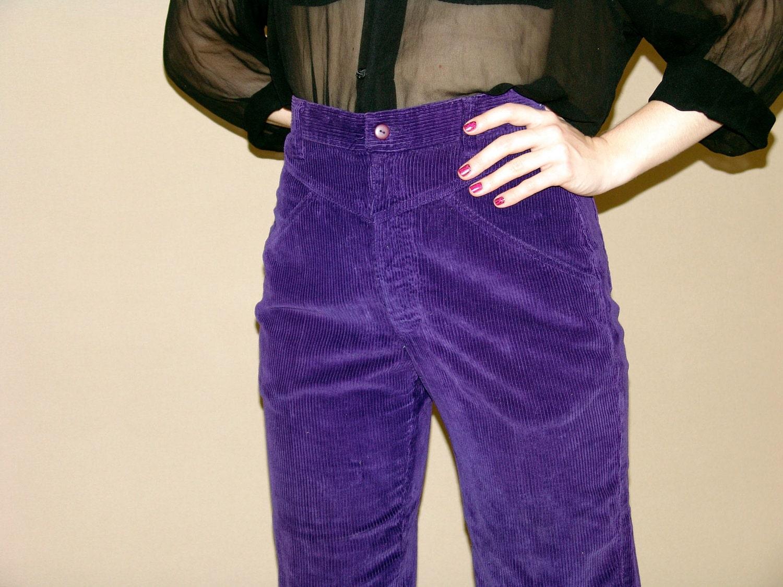 purple corduroy pants women - Pi Pants