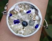White Snapple Cap Bracelet