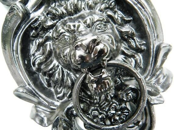 Upcycled Vintage Lion Door Knocker