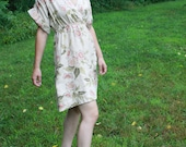 """Haute couture Custom Made Dress  """"linen love"""" by Tracy McElfresh"""