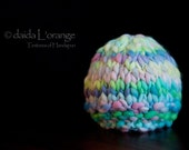 OOAK Newborn Textured Beanie Hat - Pastel Art - Spring Collection