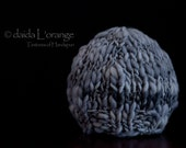 Limited Edition - Newborn Ribbed Edge Beanie Hat - Rain Clouds Over Paris - Winter Collection