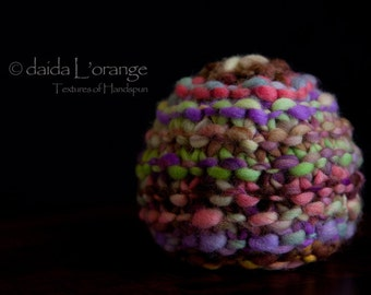 OOAK Newborn Ruffle Waves Beanie Hat - Poppies and Violets - Spring Collection