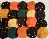 20 Handmade 1 1/2 inch Halloween Yo Yos YoYo Pieces Embellishments Suffolks Puffs Rosettes Accessories Quilt Block Scrapbooking Applique