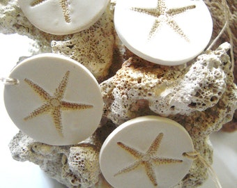 Beach Wedding Starfish Decorations Favor Gift Tags Wine Charms Set of 8 Hang Tags Wedding Favors Tag Beach Theme Wedding