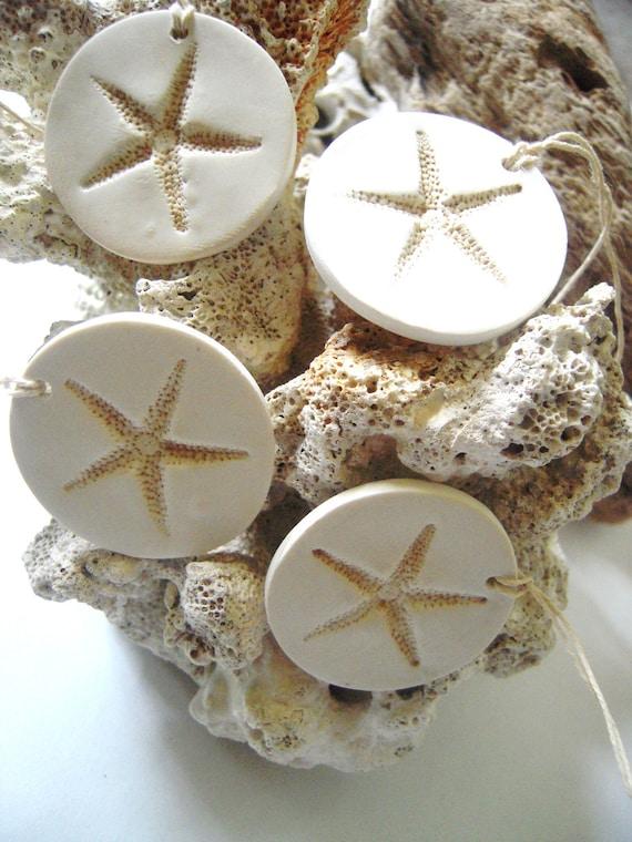 Beach Wedding Starfish Decorations Favor Gift Tags Wine Charms