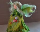 Needle Felted Wool  Garden Fairy Waldorf  doll