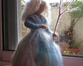 Needle felted Waldorf Winter maiden- standing doll-soft sculpture-Made to custom orders