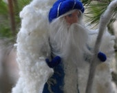 Needle felted Waldorf King Winter- standing doll-soft sculpture--needle felt by Daria LvovskyMade to custom orders
