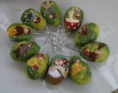 Needle felted Waldorf Two Easter eggs-The Forest Family-Elsa Beskow Inspired-needle felt by Daria Lvovsky