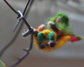 Needle Felted Waldorf Leaf child- -Autumn-Waldorf and Sibylle von Olfers inspired -soft sculpture-needle felt by Daria