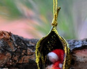 Needle felted -Waldorf ornament-Christmas tree decoration-Waldorf Education -RESERVED for Tor