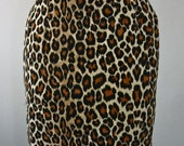 Reserved for Vanes25 Vintage Leopard Print Pencil Skirt
